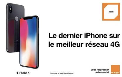 Smartphone : Orange Tunisie propose l'iPhone X à partir de 1499 DT