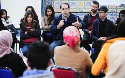 Tunisie : Chahed présente aux jeunes un programme contre le chômage