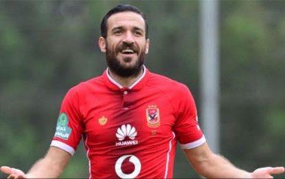Ali Maaloul avec les 23 d'Al-Ahly pour la Ligue des champions 2019