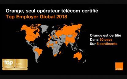 Le Groupe Orange classé parmi les 13 Top Employeurs globaux