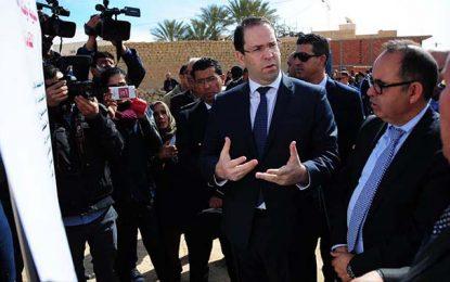 Chahed à Tozeur : Coup d'envoi de plusieurs projets pour la région
