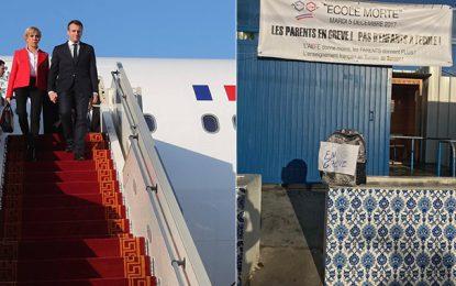 Visite de Macron en Tunisie : Les écoles françaises en grève