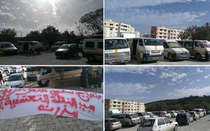 Des chauffeurs de taxi collectif de Bizerte en grève de la faim