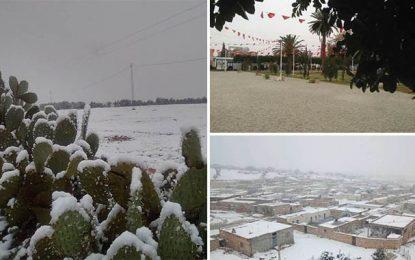 Alerte météo : Premières chutes de neige à Kasserine (Photos)
