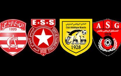 Coupe de Tunisie : Club africain, Etoile du Sahel, Club bizertin et l'AS Gabès en demi finale