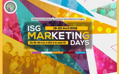 Les ISG Marketing Days les 19 et 20 avril 2018