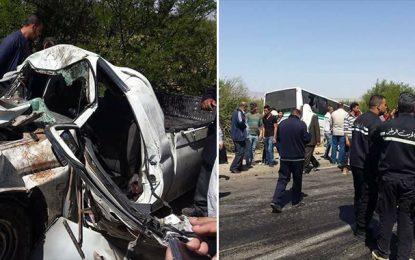 Kasserine : Le bilan de l'accident de la route de Sbeïtla s'alourdit