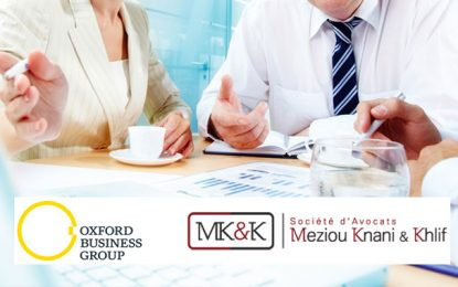 Tunisie: Entente entre les cabinets Oxford Business Group et Meziou, Knani & Khlif