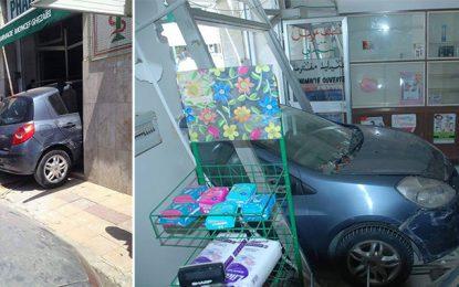 Ariana : Un automobiliste défonce la porte d'une pharmacie