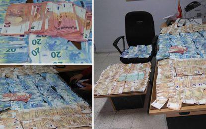 Trafic de devises : Saisie de 95.000 € et arrestation de 9 suspects à Sfax