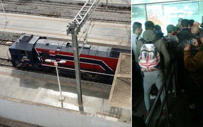 Perturbation du trafic des trains de la banlieue sud de Tunis