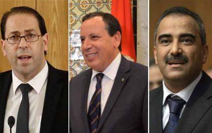 Tunisie : Des députés veulent auditionner Chahed, Chalghoum et Jhinaoui
