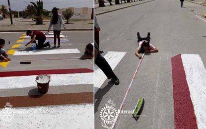 Tunisie : Le premier passage piéton 3D voit le jour à Carthage