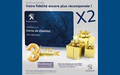 Auto : Stafim Peugeot fête le 3e anniversaire de sa carte de fidélité