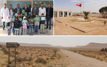 Borj Bourguiba : Des élèves et des instituteurs heureux en plein désert