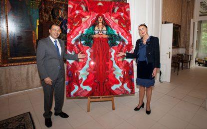 Un tableau de Meriem Bouderbala au Musée Ernest Fuchs à Vienne