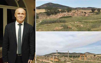 Tunisie : Olivier Poivre d'Arvor fait la promotion du site Thuburbo Majus