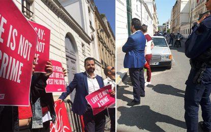 Paris : Manifestants de Shams dispersés par la police devant l'ambassade de Tunisie