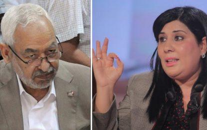 Le parti d'Abir Moussi porte plainte contre Rached Ghannouchi, pour abus de pouvoir