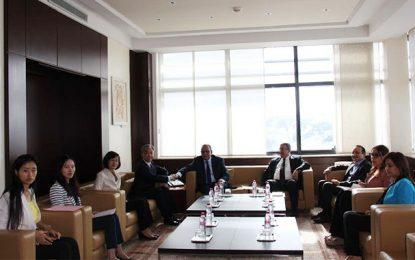 Tunisie : L'ambassadeur de Chine reçu par le président de l'Utica