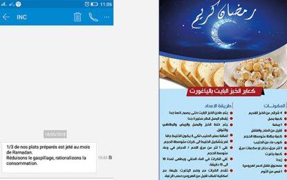 Ramadan : L'INC lance une campagne contre le gaspillage alimentaire
