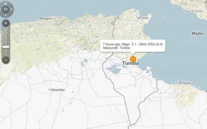 Tunisie : Secousse tellurique de 5,1 degrés à Gabès