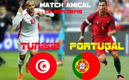 Tunisie-Portugal en live streaming : match amical