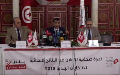 Tunisie : Résultats définitifs des élections municipales 2018