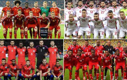 Mondial-Groupe G : Tunisie pour un exploit, Angleterre et Belgique favoris