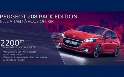 Série spéciale : Stafim lance la Peugeot 208 Pack Edition