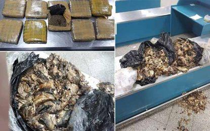 Aéroport Tunis-Carthage : Saisie de 5,4 Kg de marijuana