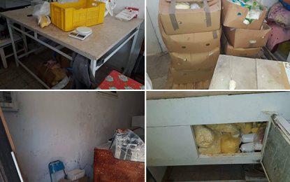 Mégrine : Saisie de fromage pourri destiné à la restauration