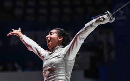 Ines Boubakri remporte le bronze aux championnats du monde 2018