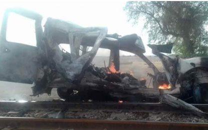 Skhira : Une famille périt dans une collision avec un train