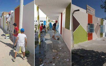 Nasrallah : Ils peignent et embellissent leur ancienne école primaire