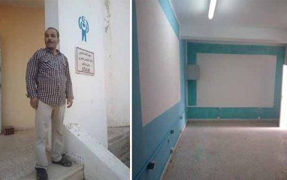 Le Kef : Bachir embellit un établissement pour handicapés mentaux