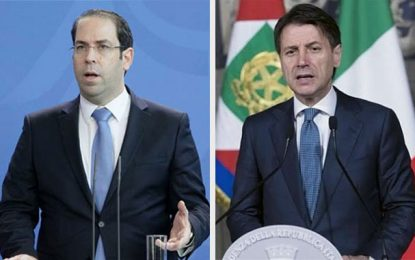 Youssef Chahed devrait inviter Giuseppe Conte à Tunis