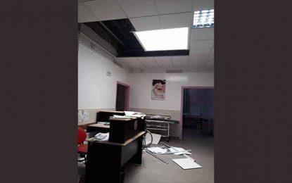 Monastir : Chute d'un faux plafond à l'hôpital Fattouma Bourguiba