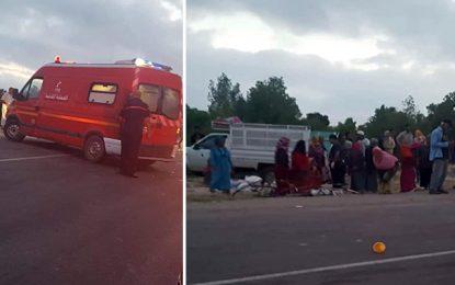 Accident de la route : Vingt ouvrières agricoles blessées à Sbeïtla