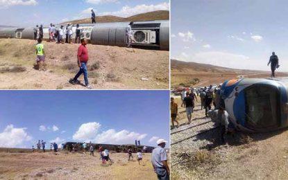 Le Kef : 29 blessés suite au renversement d'un train à Dahmani