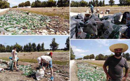 Bizerte : Trois tonnes de déchets ramassés dans un oued à Utique