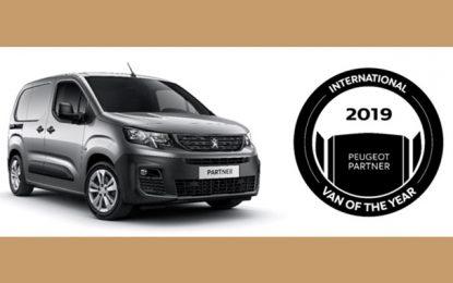 Le Nouveau Peugeot Partner élu International Van Of The Year 2019