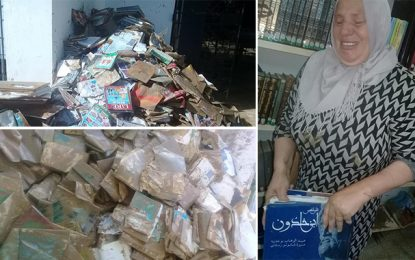 La bibliothécaire de Soliman pleure les livres détruits par les inondations