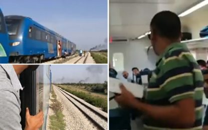 Menzel Mahata : Des manifestants bloquent le train reliant Sousse à Tunis