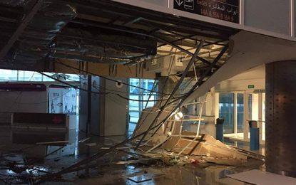 En photos : Effondrement d'une partie du toit de l'aéroport d'Enfidha