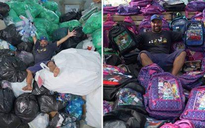 Tunisie : Des tonnes de déchets troquées contre des fournitures scolaires