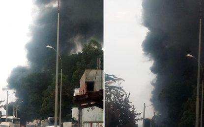 Tunis : Incendie à Sidi Fathallah près de la forêt de Jebel Jelloud