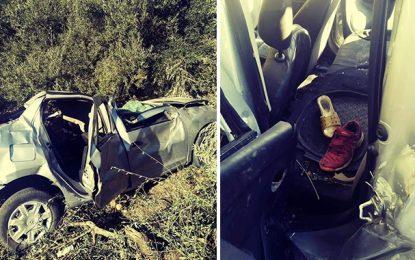 Quatre morts dont 3 enfants dans un accident à Ghardimaou