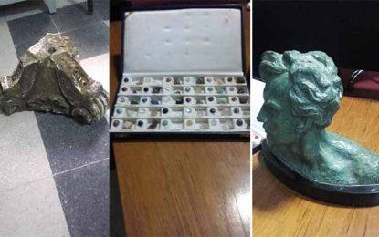Grand Tunis : Saisie de plusieurs pièces archéologiques