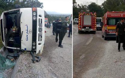 Renversement du bus du CO Kelibia : 13 joueuses de volley blessées